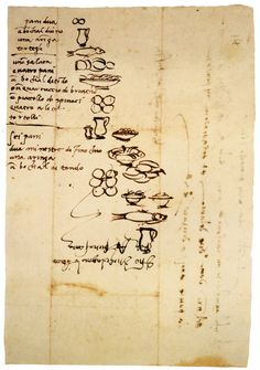 Michelangelo's illustrated shopping list. Of course!