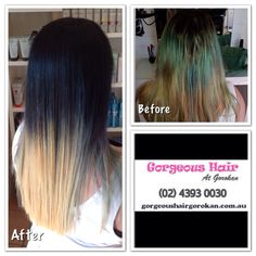 #colourcorrection - Navy Ombré to blonde