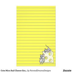 Cute Mice And Cheese Graphic, Lined Stationery http://www.zazzle.com/cute_mice_and_cheese_graphic_lined_stationery-229343340486754166?CMPN=shareicon&lang=en&social=true&view=113073461789851125&rf=238588924226571373