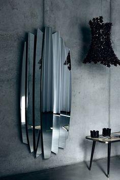 Casa-Padrino designer mirror 87 x 190 cm - Wall Mounted Mirror, Livingroom, Hall Tinted Mirror, Glam Mirror, Mirror Art, Big Mirrors, Spiegel Design, Designer Spiegel, Over The Door Mirror, Wall Mounted Mirror, Art Furniture