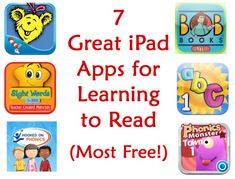 7 Great {free} iPad Apps for Learning to Read!