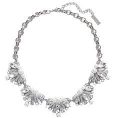 collier ras le cou argent à strass blanc, marks & spencer