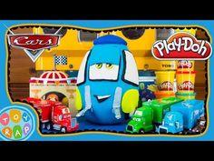 Giant Disney Pixar Cars Guido Play Doh Surprise Egg with Thomas, Shopkins, Super Mario ToyRap - YouTube