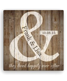 Look at this 'They Lived Happily Ever After' Personalized Canvas on #zulily today!