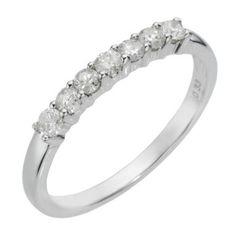 9ct white gold third carat diamond ring- Ernest Jones
