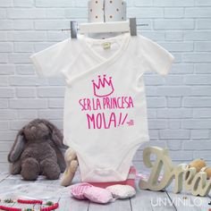 Body Blanco personalizado con nombre - Modelo Princesa - Principe 2f679dfb838