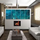 Found it at Wayfair - Abstract  by Ash Carl Metal Wall Art in Turquoise - 23.5 x 60