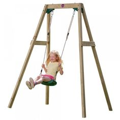 The Wooden Single Swing Set is Plum's take on the traditional playground favourite. See who can swing to the sky! People Cutout, Cut Out People, People Png, Single Swing, Double Swing, Garden Swing Sets, Yard Swing, Kids Play Equipment, Render People