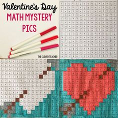 Valentine's Day Math! Students solve the multiplication and division equation in each box. Then, they color according to the coloring key. This is a FUN way to build math fluency! NOTE: This store also has addition and subtraction mystery pictures for every holiday. $