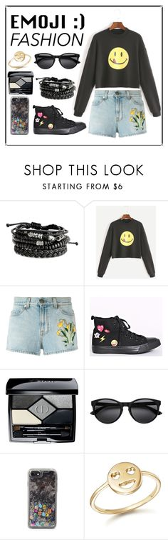 """""""Happy"""" by anadlangel ❤ liked on Polyvore featuring Gucci, Christian Dior, Rebecca Minkoff and Bing Bang"""