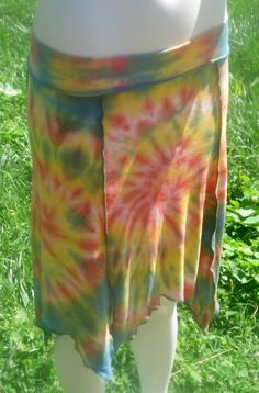 CUSTOM Organic Hand Dyed Simple Sprite Skirt Made to Order  Pick your Colors! by KreativeMindz, $45.00