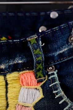 DIY denim embroidery