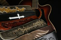 https://www.ethoscustombrands.com/shop/cat/4  Ethos Custom Brands guitar straps - #guitarstraps #leatherstraps #leatherguitarstraps