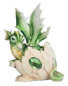 This gorgeous Inch Green Baby Dragon in Eggshell with Gem Figurine has the finest details and highest quality you will find anywhere! Dragon Egg, Green Dragon, Baby Dragon, Dragon Book, Contemporary Decorative Objects, Hatch Baby, Dragon Figurines, Thing 1, Dragon Statue