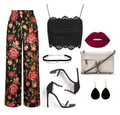 """""""Outfit for night ♥"""" by camibg on Polyvore featuring Dolce&Gabbana, Topshop, Rebecca Minkoff, Carbon & Hyde and Lime Crime"""