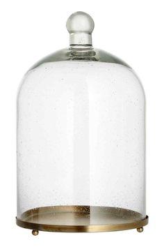 Szklana pokrywa z podstawką | H&M