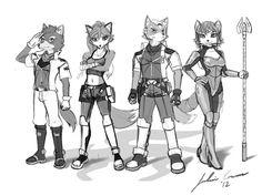 Nora, Fox, Krystal and Frank
