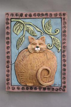 Fat Cat / Ceramic Sculpture   By LisaLeeSculpture.com