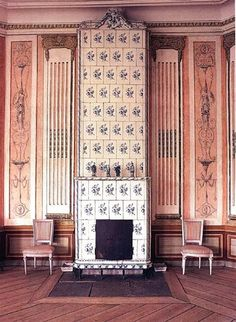 gorgeous Gustavian tile stove