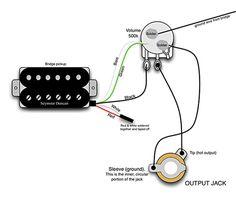 single pickup guitar wiring diagram homemade guitars pinterest rh pinterest com Guitar Pick Up Wiring Guitar Pick Up Wiring