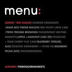 Menu - Sunday 18.08.13