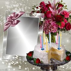 Birthday Greetings For A Friend Messages Frames Ideas For 2019 Birthday Photo Frame, Happy Birthday Frame, Birthday Cake With Photo, Happy Birthday Flower, Birthday Frames, Birthday Background, Happy Birthday Wishes Photos, Happy Birthday Wishes Cake, Happy Birthday Template
