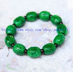 Free Shipping  jade gift perfect Natural green jade by jadeGift, $36.99
