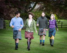 Ladies and Men's tartan kilt, easy to dress up...or down! Available from kilts4All.com