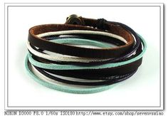 Adjustable Bracelet Cuff made of Brown Leather by sevenvsxiao, $8.00