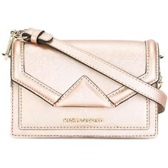Karl Lagerfeld detachable strap small clutch (14.760 RUB) ❤ liked on Polyvore featuring bags, handbags, clutches, pink leather purse, rose handbag, karl lagerfeld, 100 leather handbags and genuine leather purse