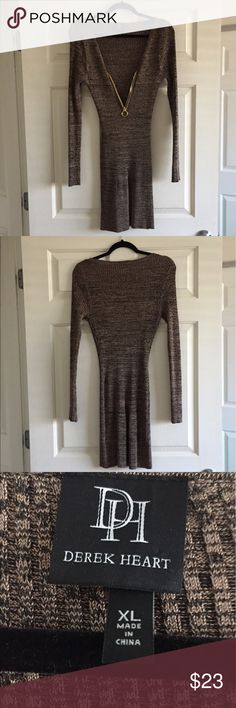 "Derek Heart Dress XL Never worn 36"" long  13"" pit to pit and very stretchy Derek Heart Dresses Long Sleeve"