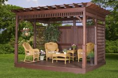 Pergola with sides!  So pretty!