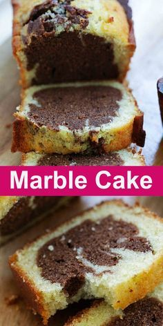 Marble Cake Marble Cake Rich Sweet Moist And Fluffy Marble Cake Loaded With Chocolate Flavors This Recipe Is The Best And Easiest For Homemade Marble Cake Rasamalaysia Com Baking Cake Dessert Marble Cake Recipe Moist, Marble Cake Recipes, Homemade Cake Recipes, Baking Recipes, Fun Desserts, Delicious Desserts, Dessert Recipes, Food Cakes, Cupcake Cakes