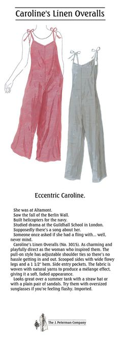 243a701b080 Caroline s Linen Overalls (No. 3015). As charming and playfully direct as  the