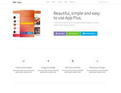 App Plus Bootstrap Landing Page Template Free Bootstrap Template, Page Template, Templates, App Landing Page, First Page, Lorem Ipsum, Mobile App, Bar Chart, Easy