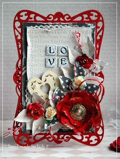 Scrapbooking, handmade cards and papercrafts by Lady E. Vintage, chipboards, shabby and more..