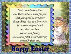 Send friends and family this sweet Easter card full of easter blessings. Free online Easter Wishes For Your Family ecards on Easter Thank You Wishes, Thank You Notes, Thank You Cards, Happy Easter, Easter Bunny, Family Wishes, Easter Wishes, My Wish For You, Name Cards