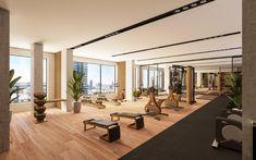 Le gym de MYX condos comprendra des équipements modernes. Condos, Condominium, Conference Room, Architecture, Table, Gym, Furniture, Home Decor, Spaces