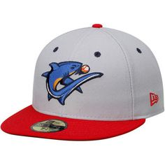 New Era Clearwater Threshers Gray/Red Alternate 1 Authentic 59FIFTY Fitted Hat