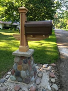 Substantial Mailbox with Masonry Base