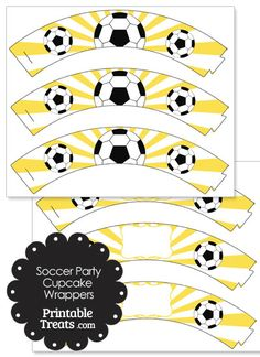 Here are some fun yellow sunburst soccer cupcake wrappers you can use to decorate soccer party cupcakes or team treats. These yellow sunburst soccer cupcake wrappers have a yellow sunburst Soccer Theme, Soccer Party, Sports Party, Chocolate Chip Recipes, Mint Chocolate Chips, Cupcake Party, Party Cakes, Cupcake Wrappers, Cupcake Liners