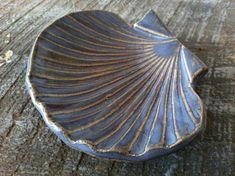 Blue Sea Shell Catch All Bowl Soap Dish or by ChrissyAnnCeramics, $18.00