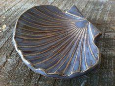 Ceramic Bowl Nautical Sea Shell design in by ChrissyAnnCeramics, $18.00