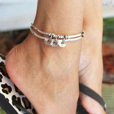 Trio Anklet in Silverplate and Double Leather Strand – Lizzy James Cute Jewelry, Body Jewelry, Unique Jewelry, Jewelry Accessories, Women Jewelry, Fashion Jewelry, Ankle Jewelry, Jewellery Rings, Stylish Jewelry