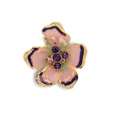Jacqueline Kennedy Jewelry Collection Enamel Pansy Pin