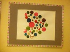 Button art on card stock then matted