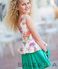 "#Girl #Dress #Salzarra - Dress – ""A colorful greensward for Lili"""