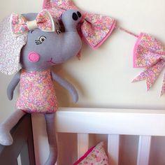 Miss Chive Elephant / Premium Cloth Doll by RhapsodyandThread