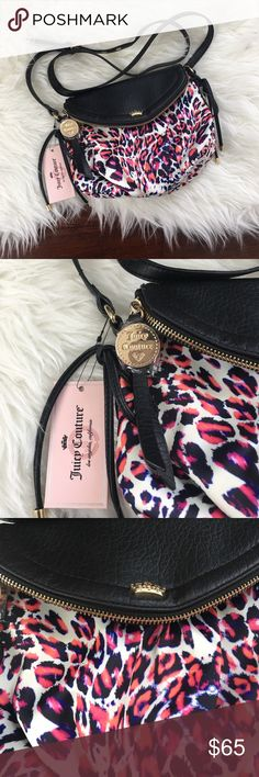 "Juicy Couture Multicolor Leopard Print Crossbody Brand new with tags. Never been used. 2 large pockets, 1 small inner pocket. Magnetic closure. Adjustable strap. Bag is 8"" tall and 9.5"" across. Juicy Couture Bags Crossbody Bags"