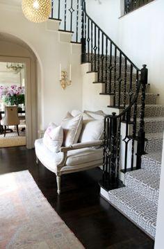 Treppenläufer und Teppiche für Holztreppen geometrisch formen schwarz